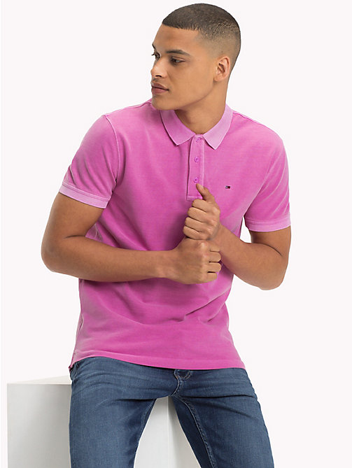 TOMMY JEANS Regular Fit Washed Polo - BODACIOUS - TOMMY JEANS T-Shirts & Polos - main image