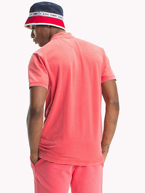 TOMMY JEANS Pique Polo Shirt - ROSE OF SHARON - TOMMY JEANS T-Shirts & Polos - detail image 1