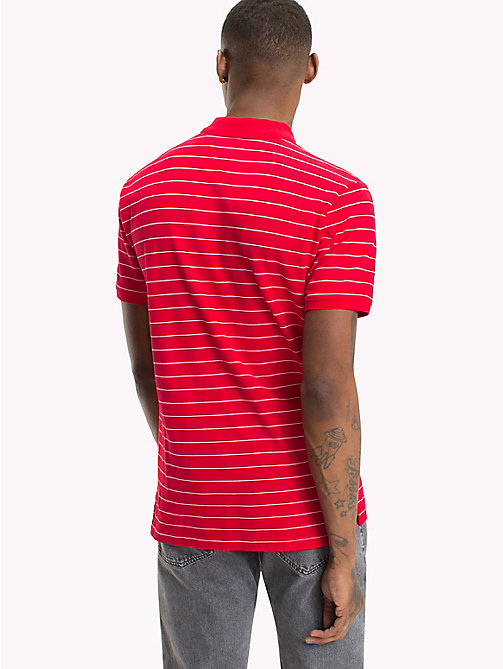 TOMMY JEANS Regular Fit Stripe Polo - LOLLIPOP - TOMMY JEANS T-Shirts & Polos - detail image 1
