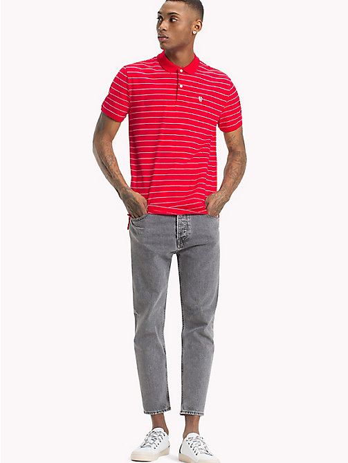 TOMMY JEANS Regular Fit Stripe Polo - LOLLIPOP - TOMMY JEANS T-Shirts & Polos - main image