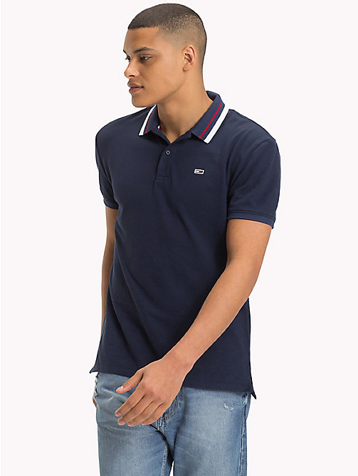 TOMMY JEANS Tommy Classics Polo Shirt - BLACK IRIS - TOMMY JEANS Tommy Classics - main image