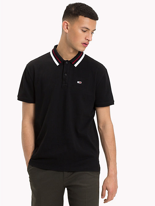 TOMMY JEANS Tommy Classics Polo Shirt - TOMMY BLACK - TOMMY JEANS Tommy Classics - main image