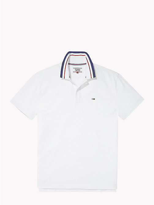 TOMMY JEANS Polo Tommy Classics - CLASSIC WHITE - TOMMY JEANS Tommy Classics - image détaillée 1