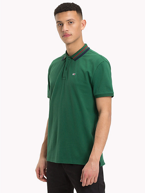 TOMMY JEANS Tommy Classics Polo Shirt - HUNTER GREEN - TOMMY JEANS Tommy Classics - main image