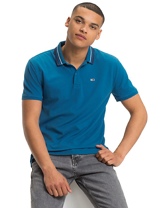 TOMMY JEANS Tommy Classics poloshirt - BLUE SAPPHIRE - TOMMY JEANS Kleding - main image
