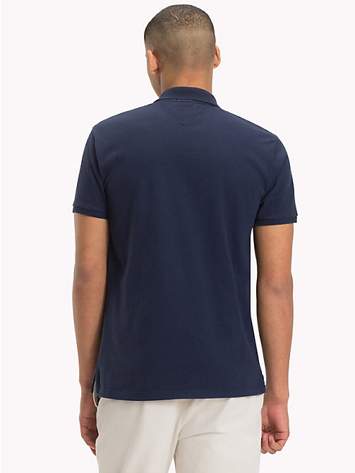 TOMMY JEANS Regular Fit Jersey Polo - BLACK IRIS - TOMMY JEANS Festival Season - detail image 1