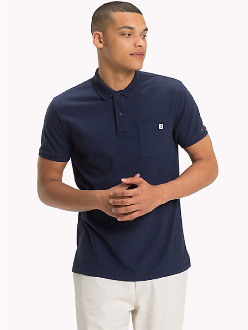TOMMY JEANS Regular Fit Jersey Polo - BLACK IRIS - TOMMY JEANS Festival Season - main image