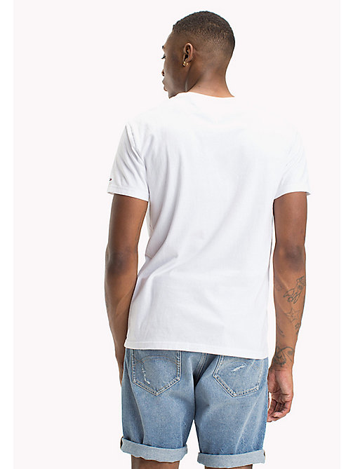 TOMMY JEANS Organic Cotton Script Logo T-Shirt - CLASSIC WHITE - TOMMY JEANS Sustainable Evolution - detail image 1