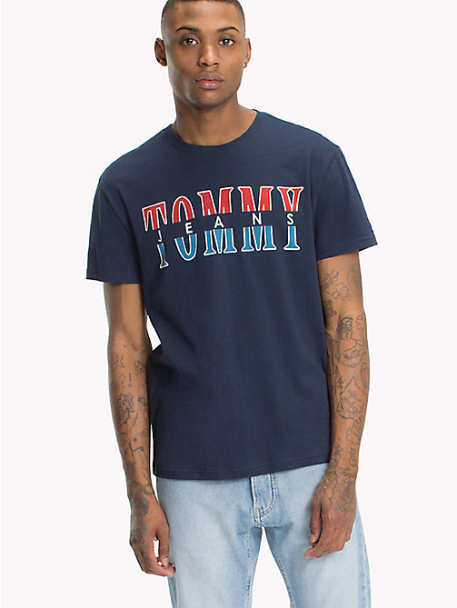 TOMMY JEANS Regular Fit Logo T-Shirt - BLACK IRIS - TOMMY JEANS T-Shirts & Polos - main image