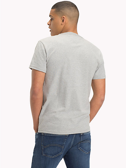 TOMMY JEANS Regular Fit Logo T-Shirt - LT GREY HTR - TOMMY JEANS T-Shirts & Polos - detail image 1
