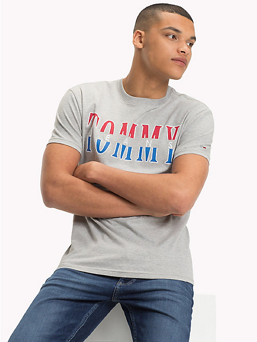 TOMMY JEANS Regular Fit Logo T-Shirt - LT GREY HTR - TOMMY JEANS T-Shirts & Polos - main image