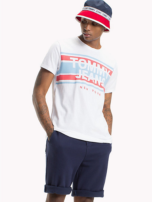 TOMMY JEANS Regular Fit T-Shirt - CLASSIC WHITE - TOMMY JEANS T-Shirts & Poloshirts - main image