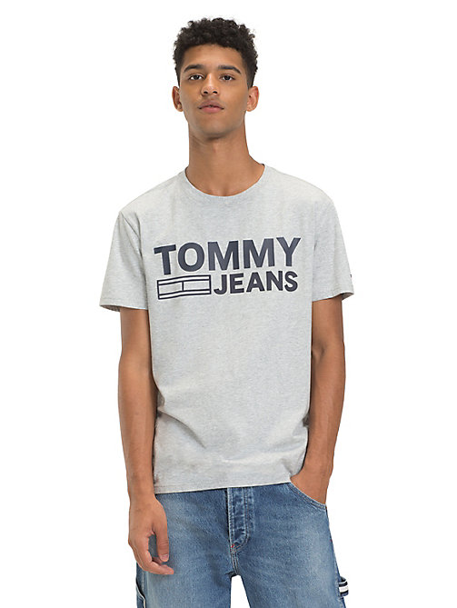 TOMMY JEANS T-shirt van biologisch katoen met logo - LT GREY HTR - TOMMY JEANS Sustainable Evolution - main image