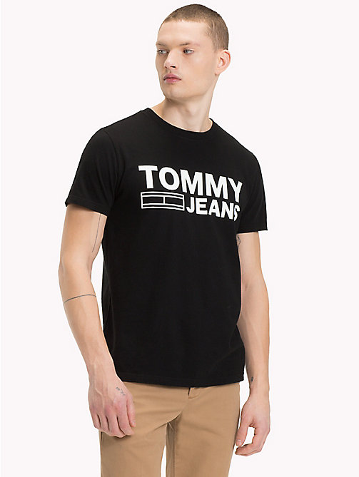 TOMMY JEANS T-shirt van biologisch katoen met logo - TOMMY BLACK - TOMMY JEANS Sustainable Evolution - main image