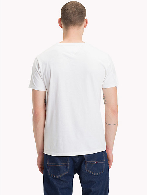 TOMMY JEANS T-shirt van biologisch katoen met logo - CLASSIC WHITE - TOMMY JEANS Sustainable Evolution - detail image 1