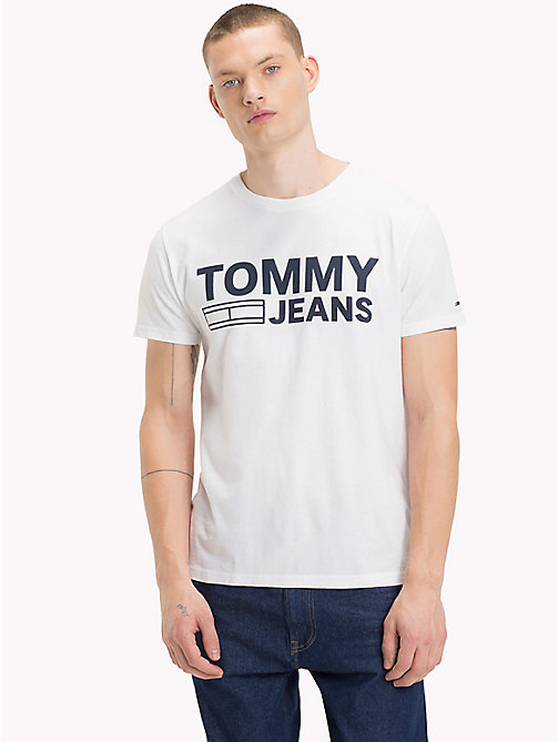 TOMMY JEANS Organic Cotton Logo T-Shirt - CLASSIC WHITE - TOMMY JEANS Sustainable Evolution - main image