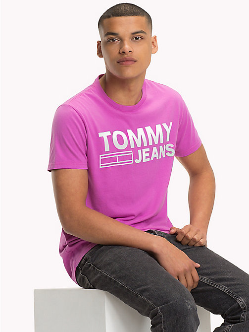 TOMMY JEANS Organic Cotton Logo T-Shirt - BODACIOUS - TOMMY JEANS Sustainable Evolution - main image