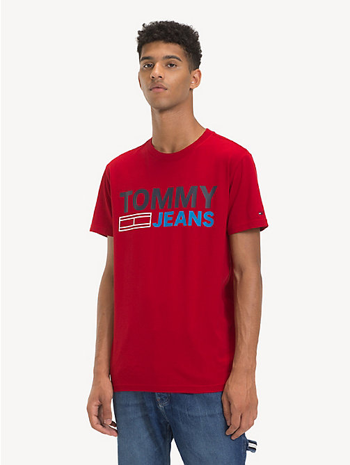 TOMMY JEANS T-shirt en coton bio à logo - SAMBA - TOMMY JEANS Sustainable Evolution - image principale