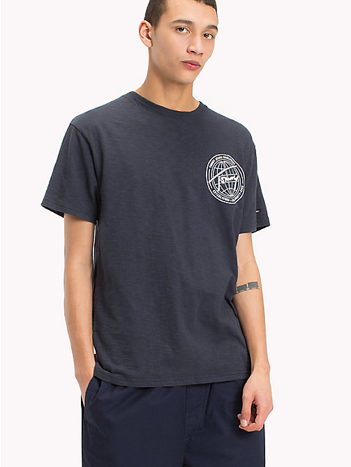 TOMMY JEANS Regular Fit Worldwide T-Shirt - BLACK IRIS - TOMMY JEANS Festivals Season - main image