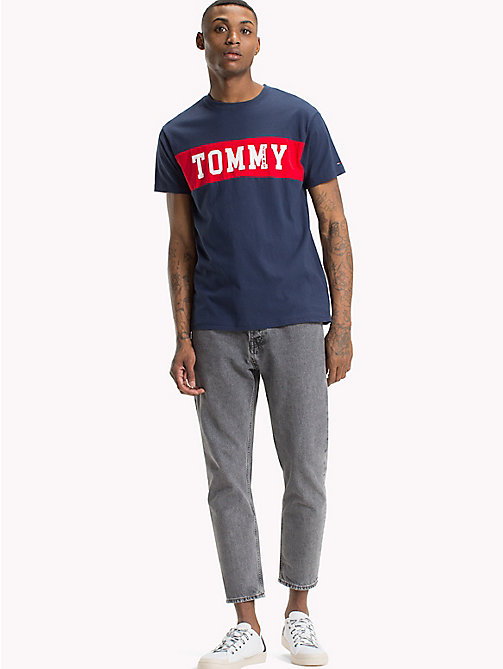 TOMMY JEANS Regular Fit Logo T-Shirt - BLACK IRIS - TOMMY JEANS Festival Season - main image