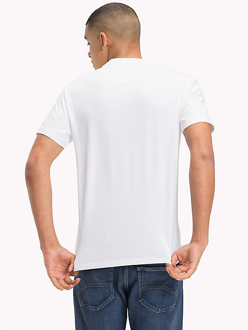TOMMY JEANS Regular Fit Logo T-Shirt - CLASSIC WHITE - TOMMY JEANS T-Shirts & Polos - detail image 1