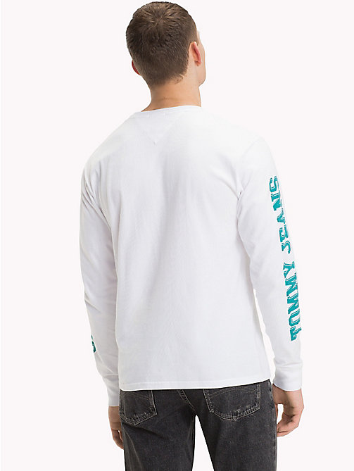 TOMMY JEANS Langarmshirt im Motorsport-Look - CLASSIC WHITE - TOMMY JEANS T-Shirts & Poloshirts - main image 1