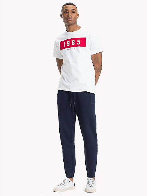 TOMMY JEANS Regular Fit Runner T-Shirt - CLASSIC WHITE - TOMMY JEANS T-Shirts & Polos - main image