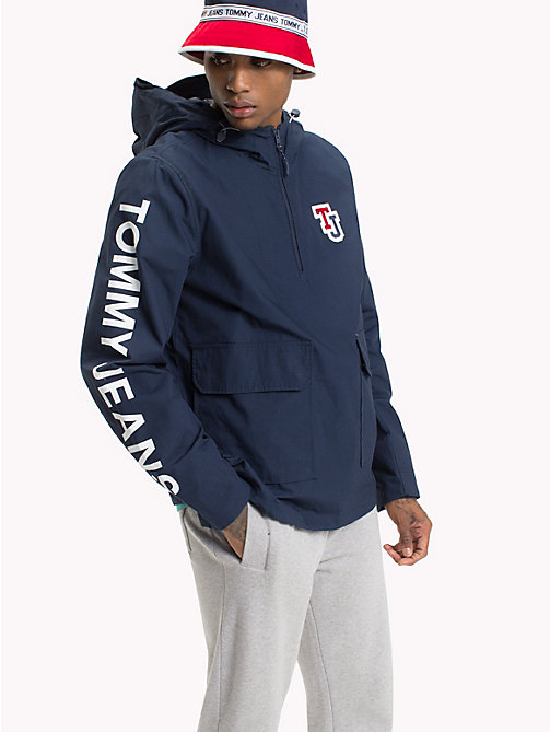 TOMMY JEANS Hooded Pull On Jacket - BLACK IRIS - TOMMY JEANS Coats & Jackets - main image