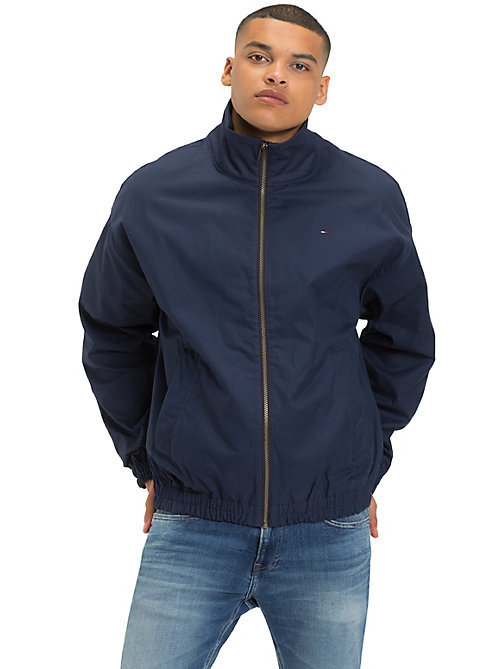 TOMMY JEANS Zipped Cotton Jacket - BLACK IRIS - TOMMY JEANS Coats & Jackets - main image