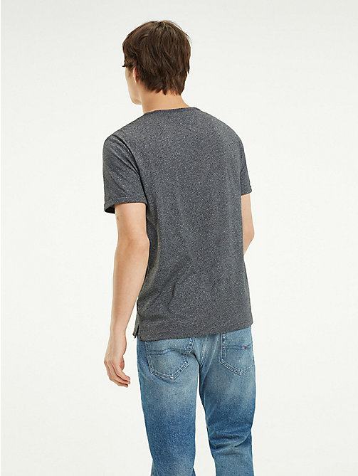 TOMMY JEANS Regular Fit T-Shirt aus Jaspé - TOMMY BLACK - TOMMY JEANS T-Shirts & Poloshirts - main image 1