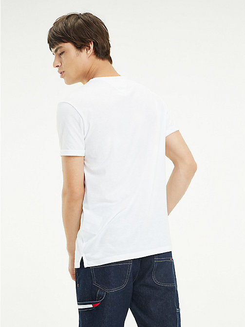 TOMMY JEANS Regular Fit Jaspe T-Shirt - CLASSIC WHITE - TOMMY JEANS T-Shirts & Polos - detail image 1