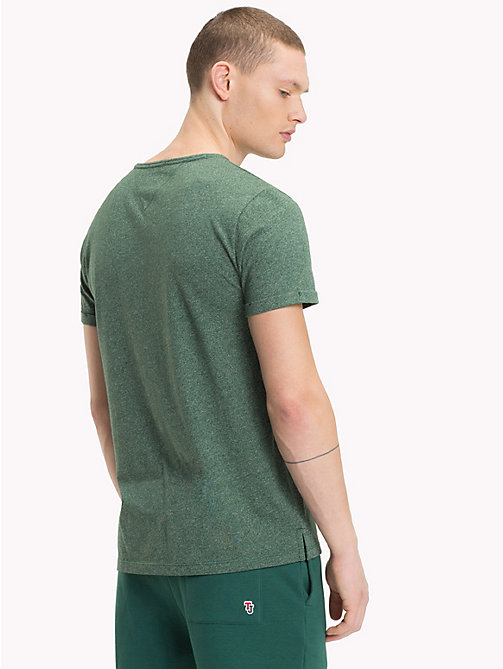 TOMMY JEANS Regular Fit Jaspe T-Shirt - HUNTER GREEN - TOMMY JEANS T-Shirts & Polos - detail image 1