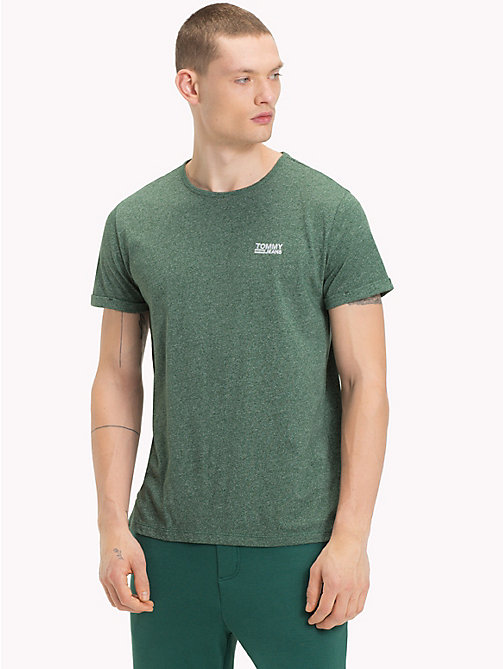 TOMMY JEANS Regular fit jaspe T-shirt - HUNTER GREEN - TOMMY JEANS T-Shirts &  Polo's - main image
