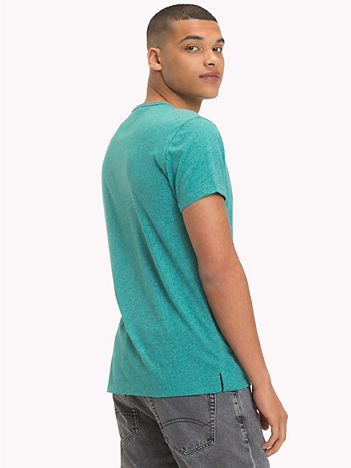 TOMMY JEANS Regular Fit Jersey T-Shirt - GREEN BLUE SLATE - TOMMY JEANS T-Shirts & Polos - detail image 1