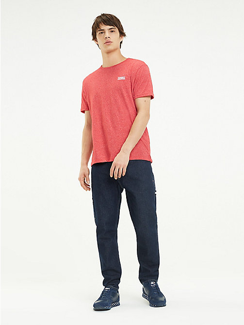 TOMMY JEANS Regular fit jersey T-shirt - SAMBA - TOMMY JEANS T-Shirts &  Polo's - main image