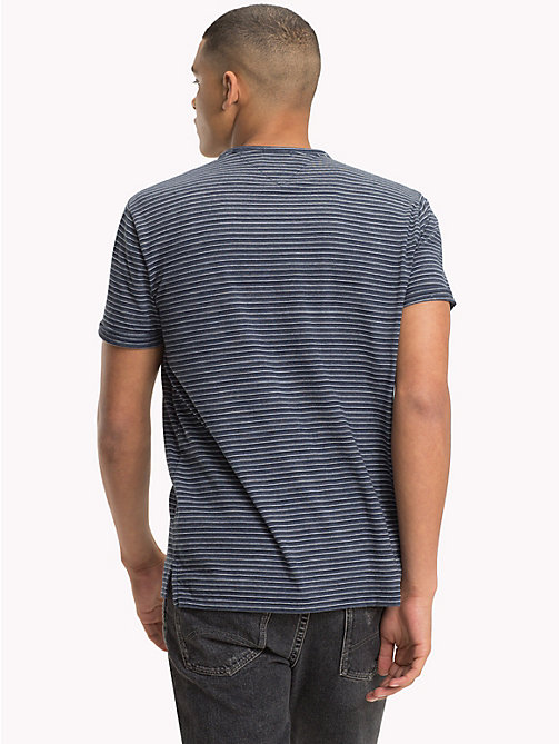 TOMMY JEANS Regular Fit Stripe T-Shirt - BLACK IRIS - TOMMY JEANS T-Shirts & Polos - detail image 1