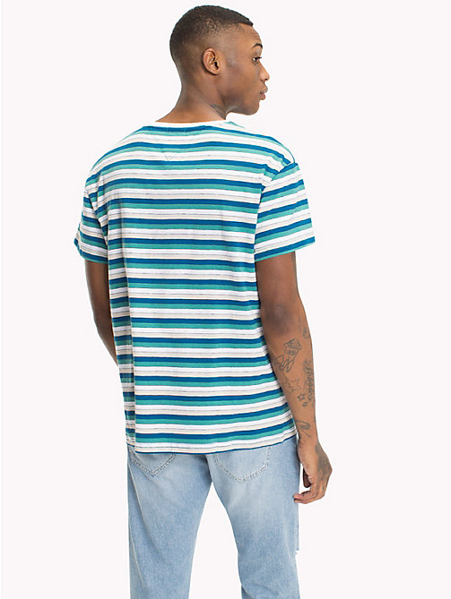 TOMMY JEANS Relaxed Fit Vintage Stripe T-Shirt - GREEN BLUE STATE / MULTI - TOMMY JEANS T-Shirts & Polos - detail image 1