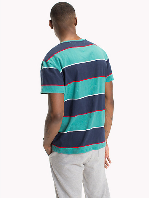 TOMMY JEANS Relaxed Fit Stripe T-Shirt - GREEN BLUE STATE / MULTI - TOMMY JEANS T-Shirts & Polos - detail image 1