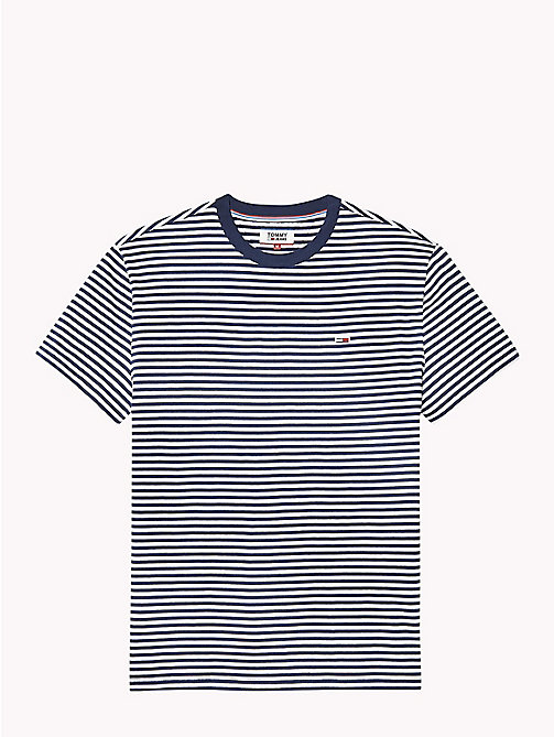 TOMMY JEANS Tommy Classics Striped T-Shirt - BLACK IRIS - TOMMY JEANS Sustainable Evolution - detail image 1