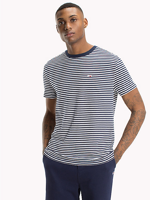 TOMMY JEANS Tommy Classics Striped T-Shirt - BLACK IRIS - TOMMY JEANS Sustainable Evolution - main image