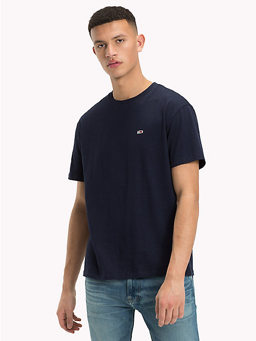 TOMMY JEANS Tommy Classics Organic Cotton T-Shirt - BLACK IRIS - TOMMY JEANS Sustainable Evolution - main image