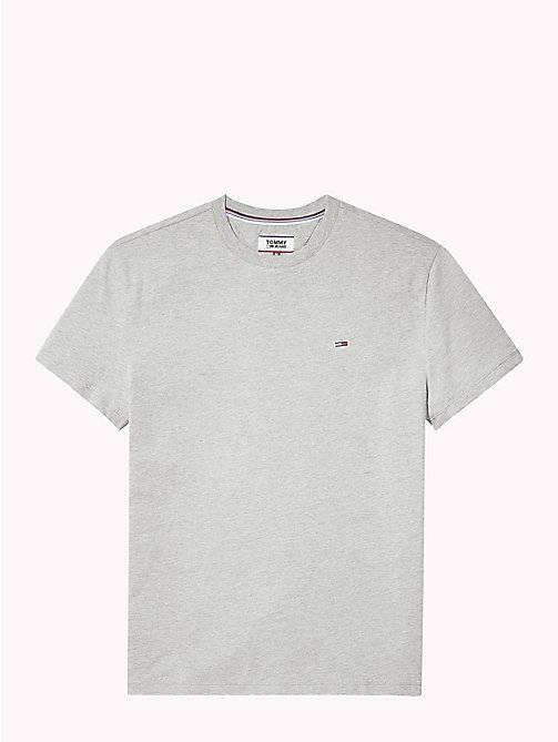 TOMMY JEANS Tommy Classics Organic Cotton T-Shirt - LT GREY HTR - TOMMY JEANS Clothing - detail image 1