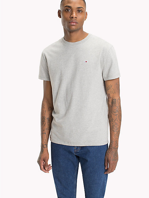 TOMMY JEANS Tommy Classics Organic Cotton T-Shirt - LT GREY HTR - TOMMY JEANS Clothing - main image