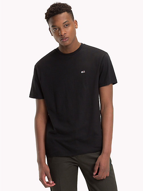 TOMMY JEANS Tommy Classics Organic Cotton T-Shirt - TOMMY BLACK - TOMMY JEANS Tommy Classics - detail image 1