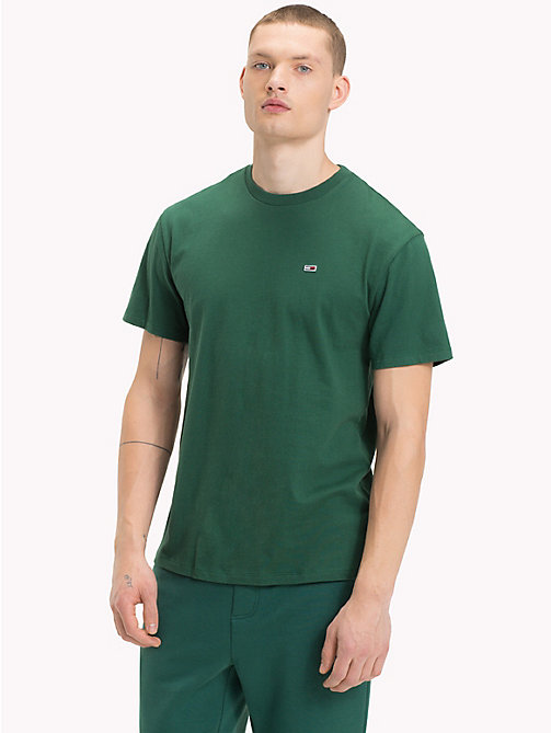 TOMMY JEANS T-shirt in cotone biologico Tommy Classics - HUNTER GREEN - TOMMY JEANS Tommy Classics - immagine principale