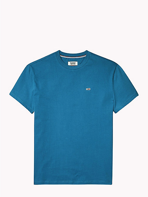 TOMMY JEANS Tommy Classics Organic Cotton T-Shirt - BLUE SAPPHIRE - TOMMY JEANS Tommy Classics - detail image 1