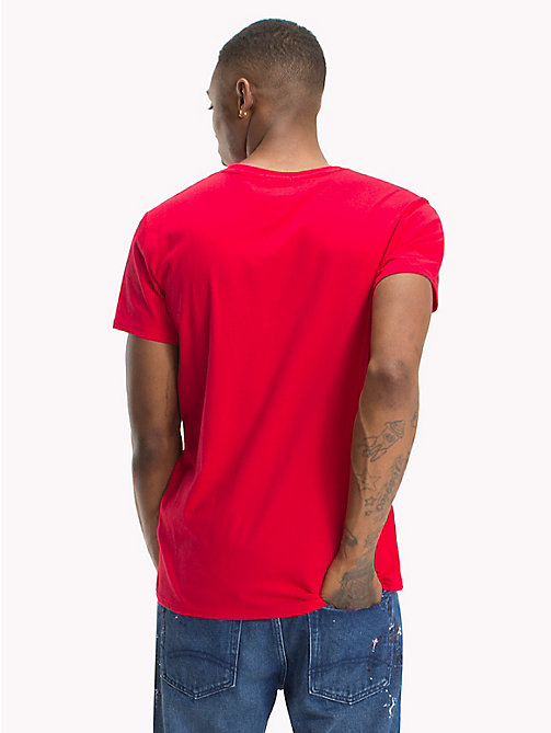 TOMMY JEANS Regular Fit Jersey T-Shirt - LOLLIPOP - TOMMY JEANS T-Shirts & Polos - detail image 1
