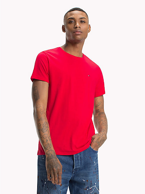 TOMMY JEANS Regular Fit Jersey T-Shirt - LOLLIPOP - TOMMY JEANS T-Shirts & Polos - main image