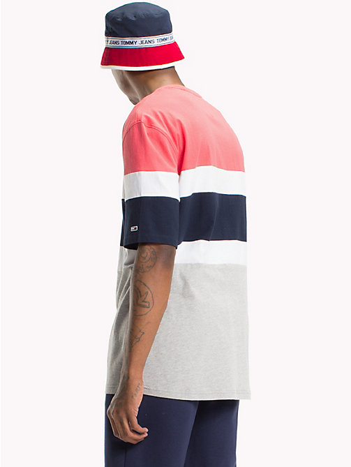 TOMMY JEANS Summer Colour-Blocked T-Shirt - ROSE OF SHARON / MULTI - TOMMY JEANS Festival Season - detail image 1