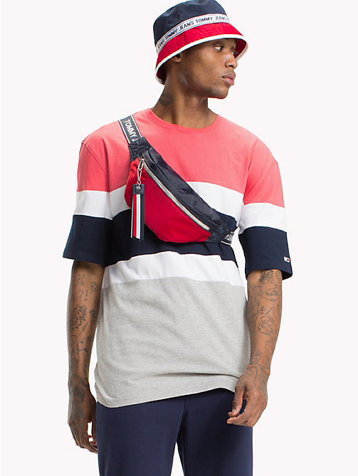TOMMY JEANS Summer Colour-Blocked T-Shirt - ROSE OF SHARON / MULTI - TOMMY JEANS Festival Season - main image